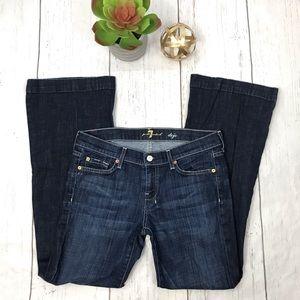 7 For All Mankind Dojo Wide Leg Flare Jeans Sz 30